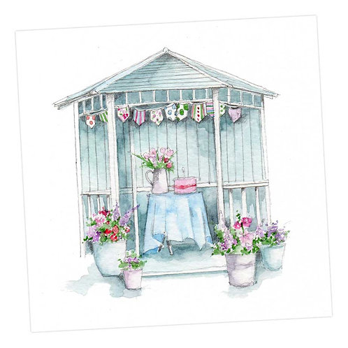 Blue Summerhouse Card