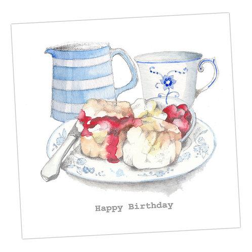 Cream Tea Birthday Card