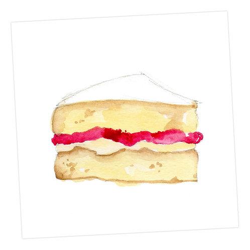 Victoria Sponge Cake Card