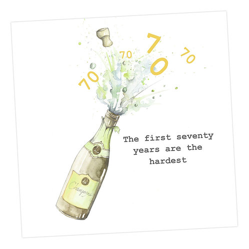 Champagne 70th Card