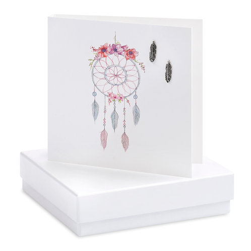 Boxed Dreamcatcher Earring Card