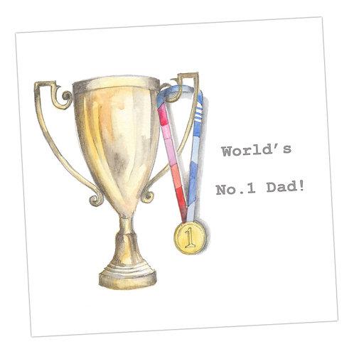 World No.1 Dad Card