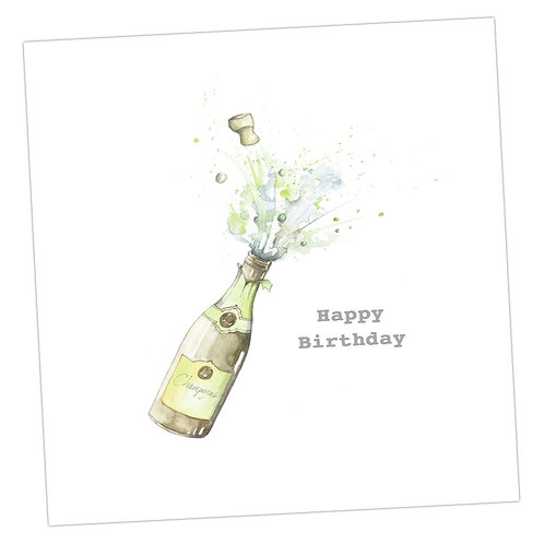 Birthday Champagne Card