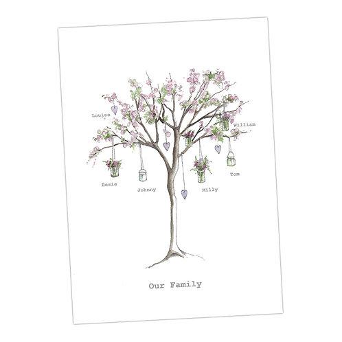 Blossom Tree Personalised Print