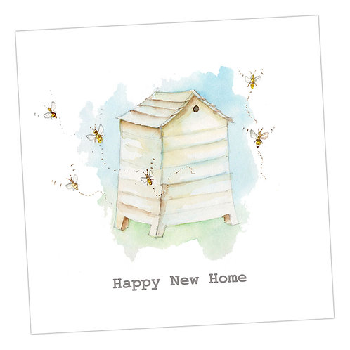 Bee Hive New Home Card