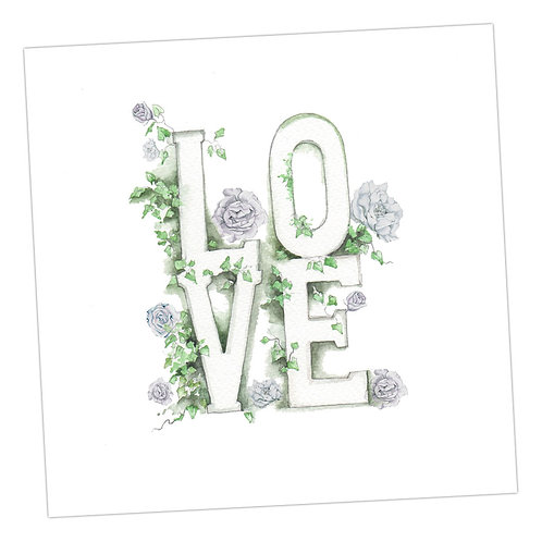 Love in letters Card