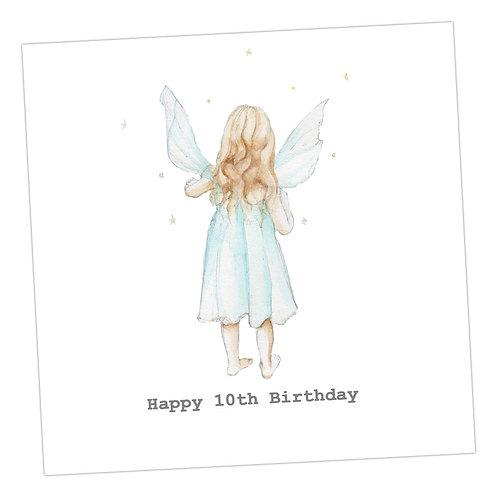 Fairy 10th Birthday Card