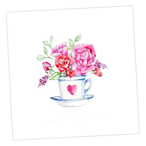 Flowers in a Teacup Card