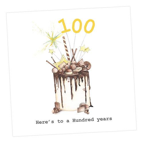 Choccie Woccie Cake 100th Card