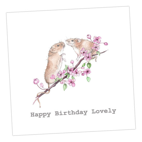 Mils & Monty Mouse Birthday Card