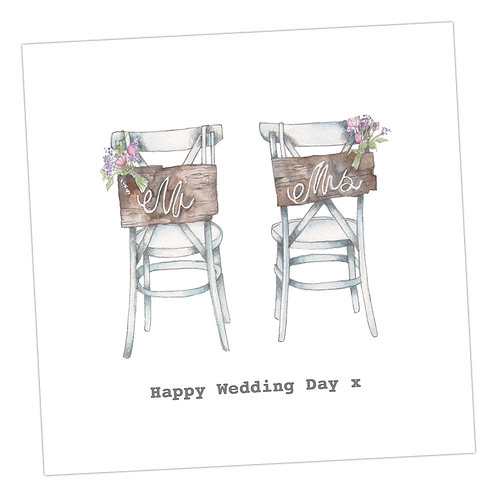 Wedding Chairs Card