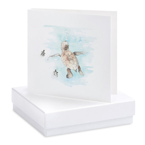 Boxed Turtle Earring Card