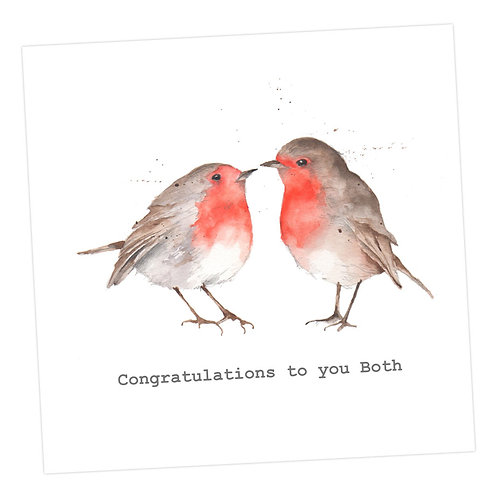 Kissing Robins, Congratulations Card