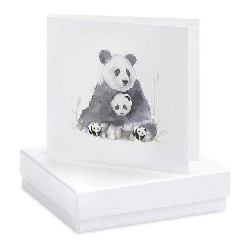 Boxed Earring Card Pandas