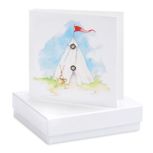 Boxed Bell Tent Earring Card