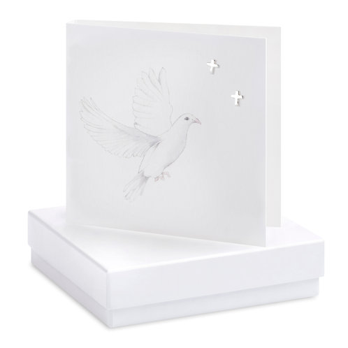 Boxed Earring Card Dove