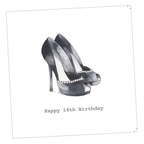 Sixteenth Shoes Card
