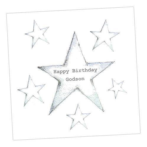 Star Godson Birthday Card