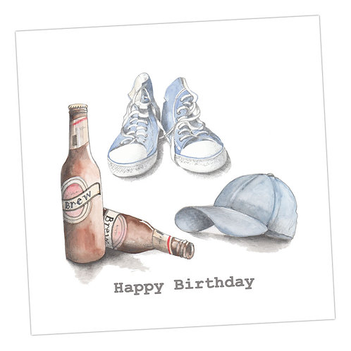 Beer etc Happy Birthday Card