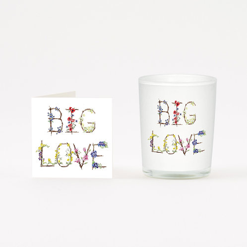 Big Love Boxed Candle & Card