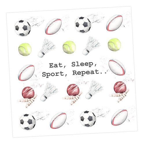 Multi Sport Eat, Sleep Card