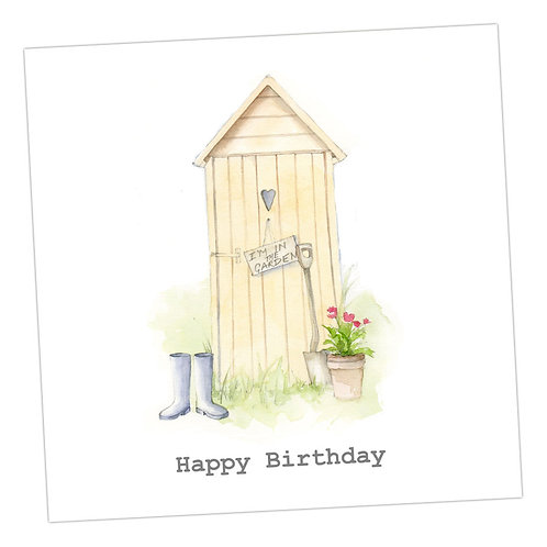 Gardening Shed Birthday Card