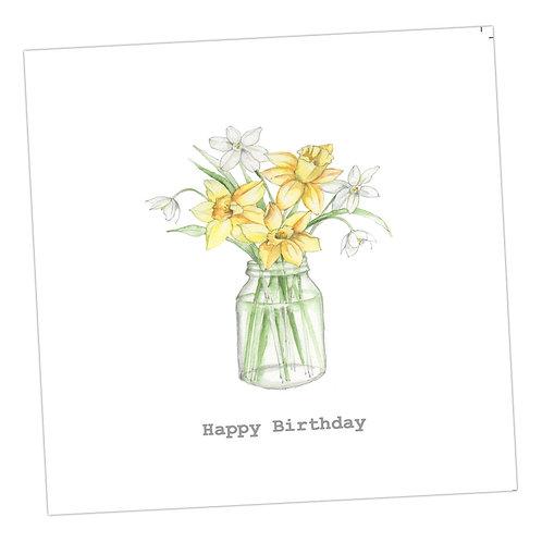Daffodils Birthday Card