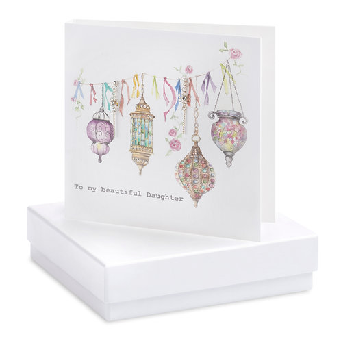 Boxed Earring Card Morroccan beautiful Daughter