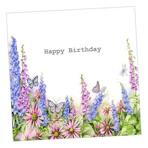 English Country Garden Birthday Card