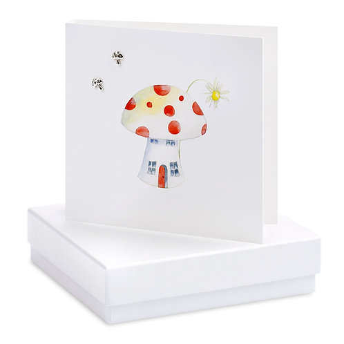 Boxed Toadstool Earring Card