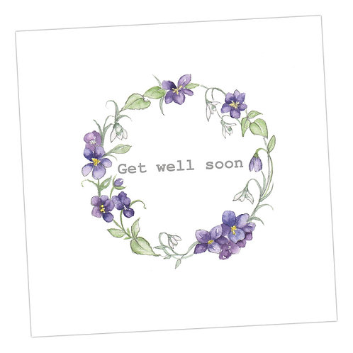 Get Well Soon Floral Wreath