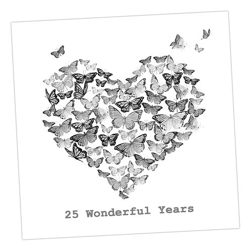Butterfly 25th Anniversary Card