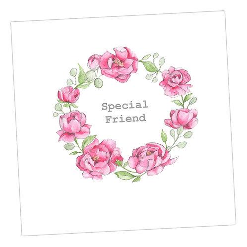Special Friend Floral Wreath