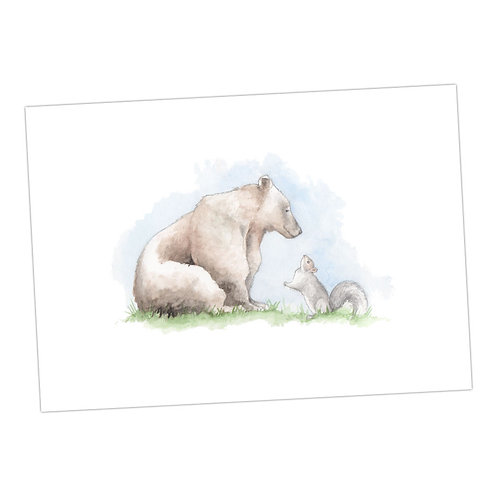 Bear & The Squirrel Print