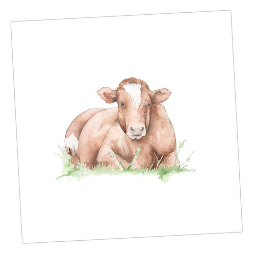 Brown Cow Card