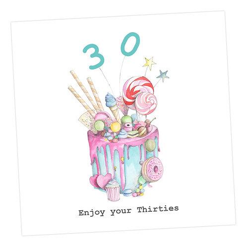 Truly Scrumptious Cake 30th Card