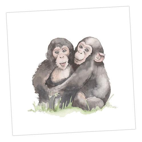 Baby Love Monkeys Card