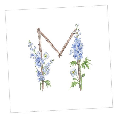 Floral Letters M