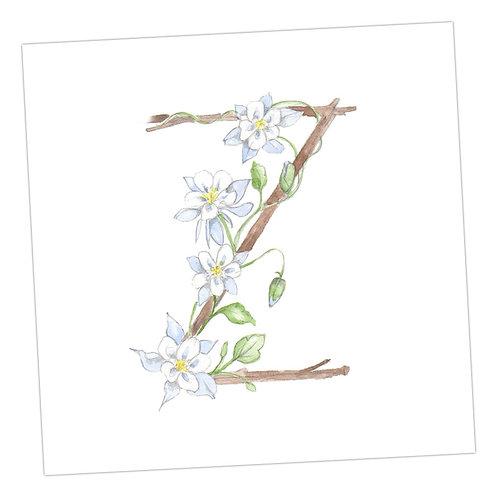 Floral Letters Z