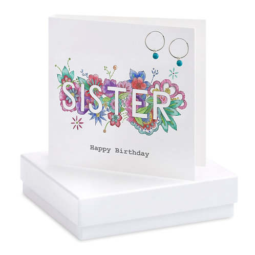 Boxed Boho Sister Earring Card