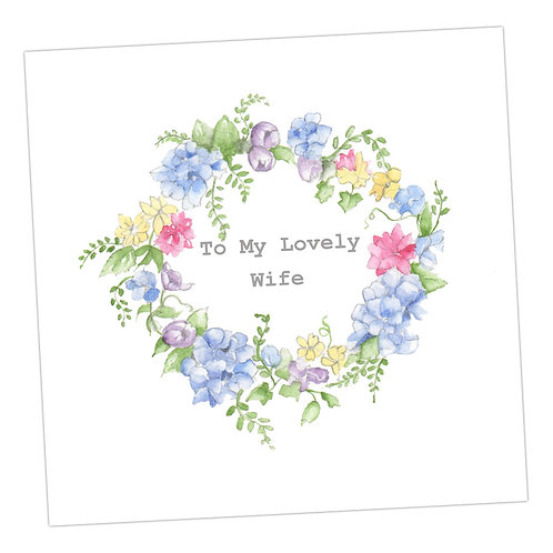 Wife wreath Card