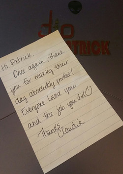 Claudia Thank You Note