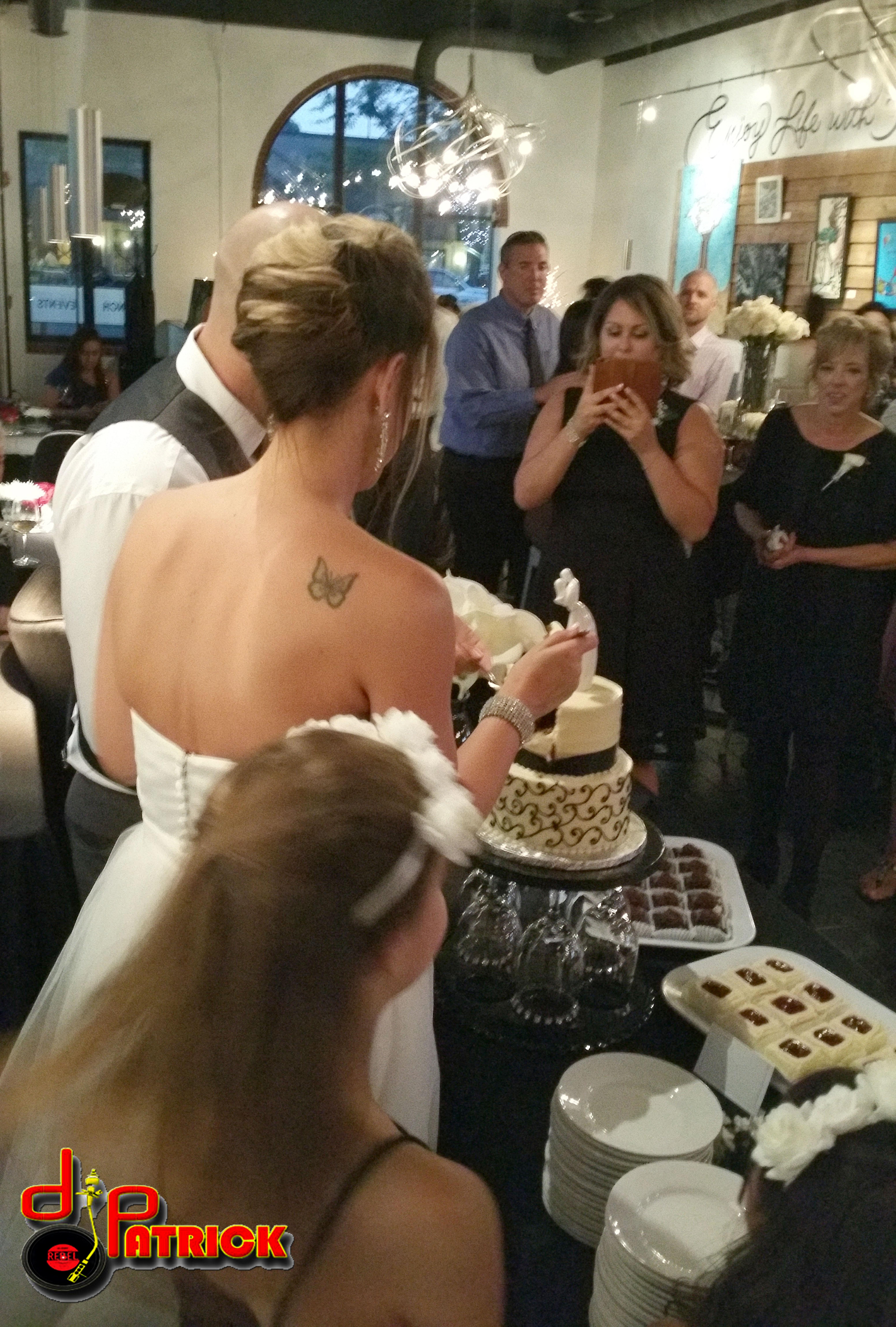 DeAnn & Joel Cake Cutting 1