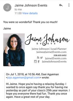 Jaime Thank you