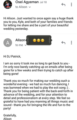 Alison Thank you note