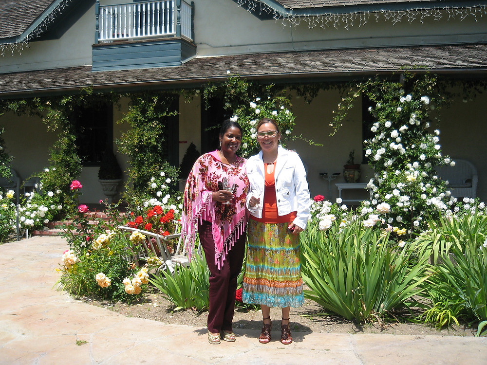 Glenda (left) and I on a mother's day trip to Rideau Vineyards in Solvang, CA