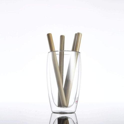 12 Pailles en bambou 15 cm