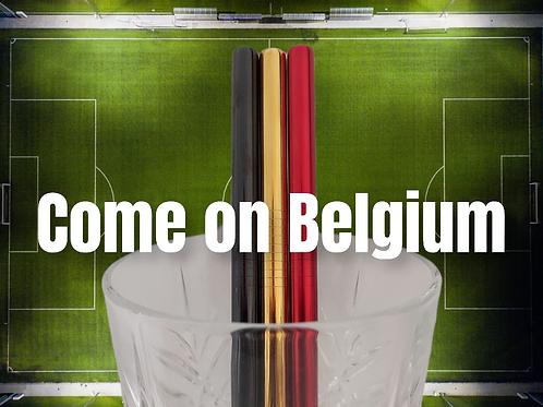 """Kit de pailles """"Come On Belgium"""""""