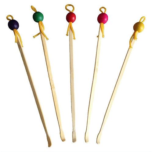 Set de 3 cure-oreilles en bambou