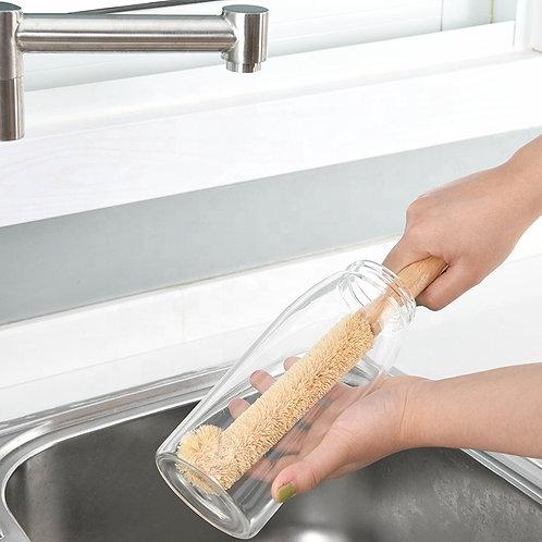 Brosse de nettoyage pour bouteille en fibre de coco